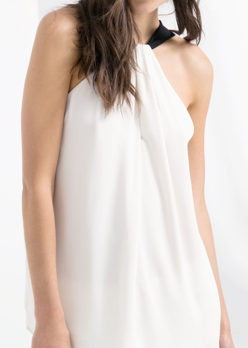 Chiffon draped top