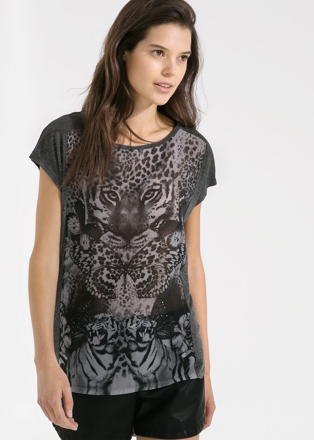 Bead animal t shirt