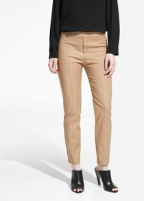 Seam detail slim fit trousers