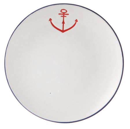 Batela Anchor Dessert Plate Set of 6