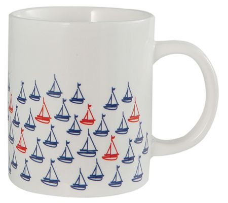 Batela Sailing Boats Mugs Set of 4