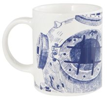 Batela Diving Helmet Mugs Set of 4