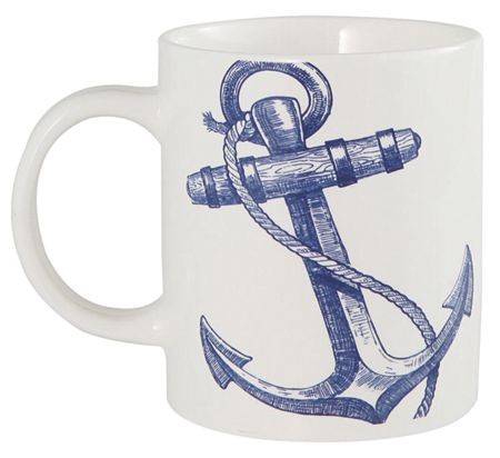 Batela Anchor Design Mugs Set of 4