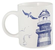 Batela Lighthouse Design Mugs Set of 4