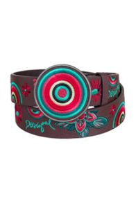 Desigual Bordado Hibiscus Belt