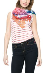 Desigual Rectangle Happy Bazar Scarf