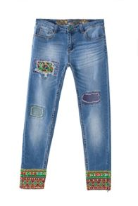 Desigual Ethnic Ankle Jeans