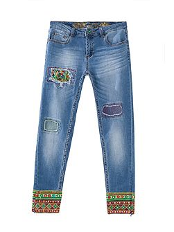 Ethnic Ankle Jeans