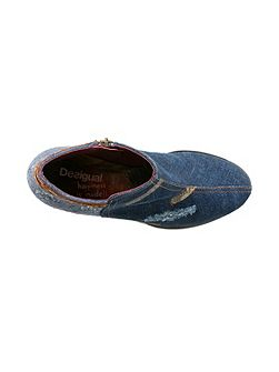 Denim Patch Country Shoes