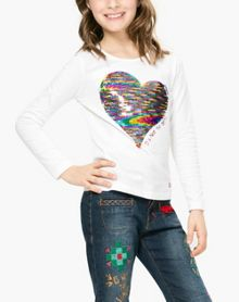Desigual Girls Saskatchewan Cotton T-Shirt
