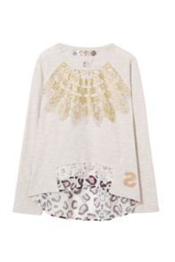 Desigual Girls Cervantes Rep T-Shirt