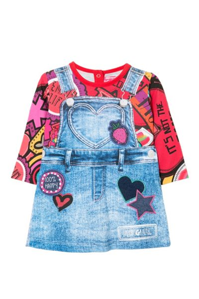 Desigual Baby Girl Bolitas Dress