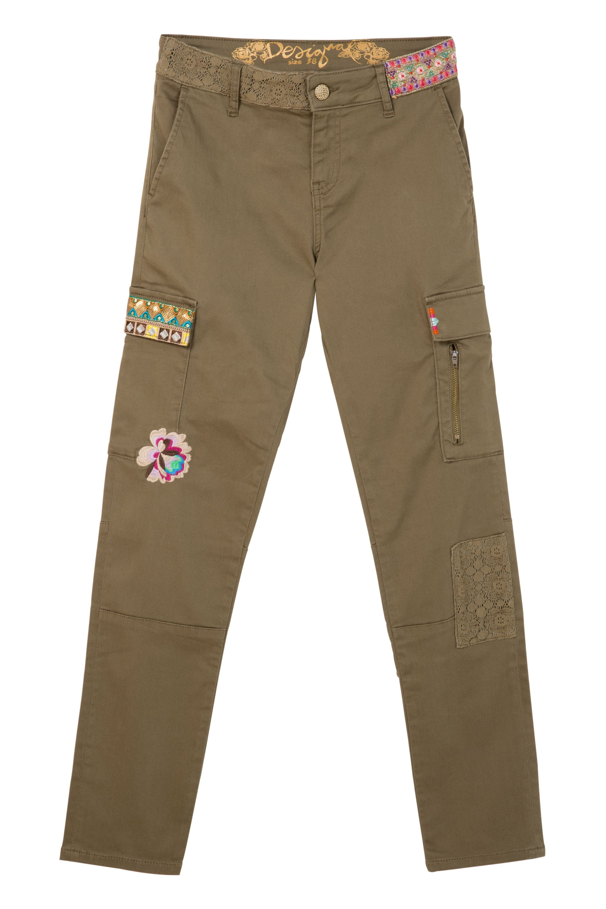 Desigual Trousers Luz, Green
