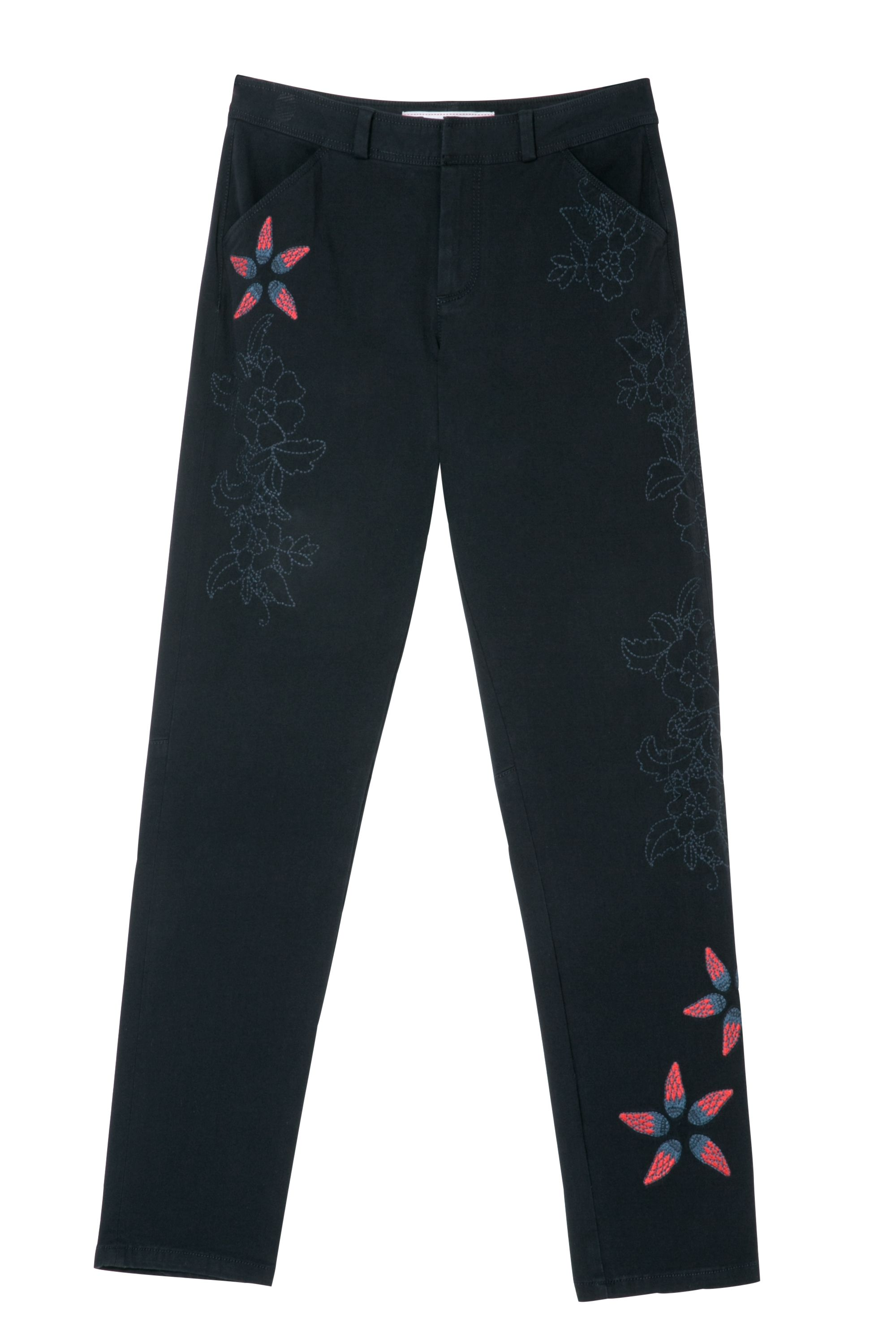 Desigual Trousers Nuria, Black