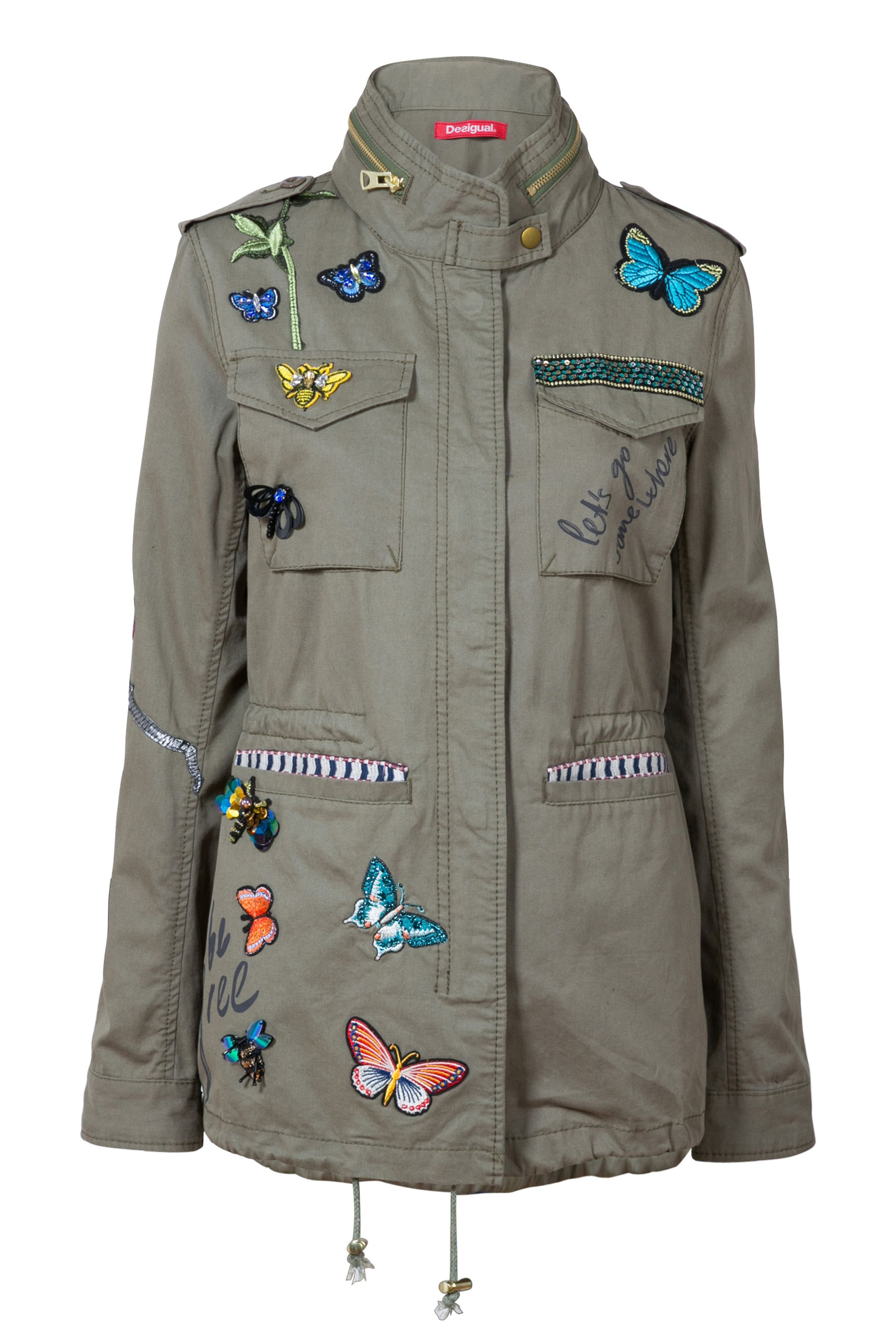 Desigual Jacket Taque, Green
