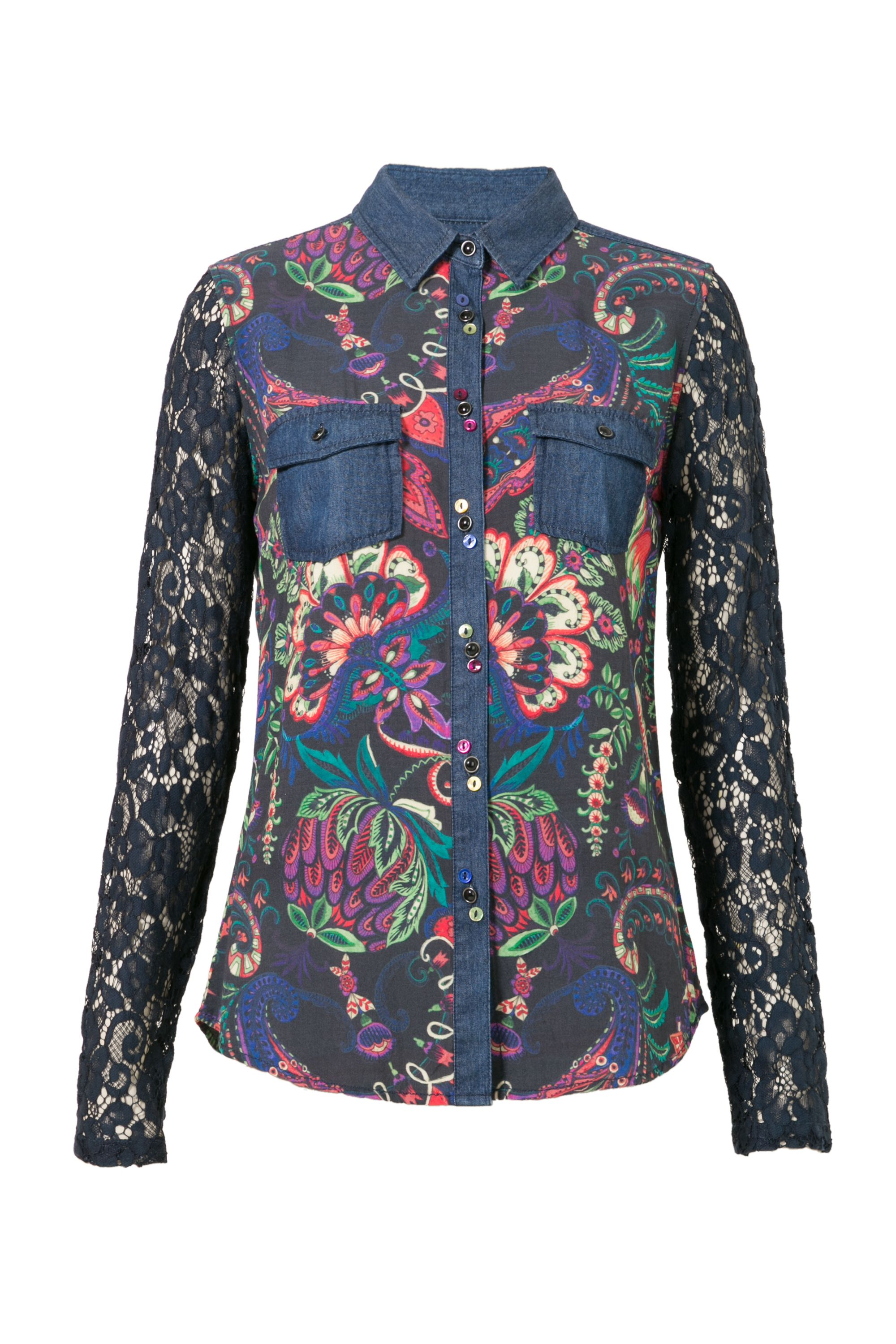 Desigual Shirt Lace, Blue