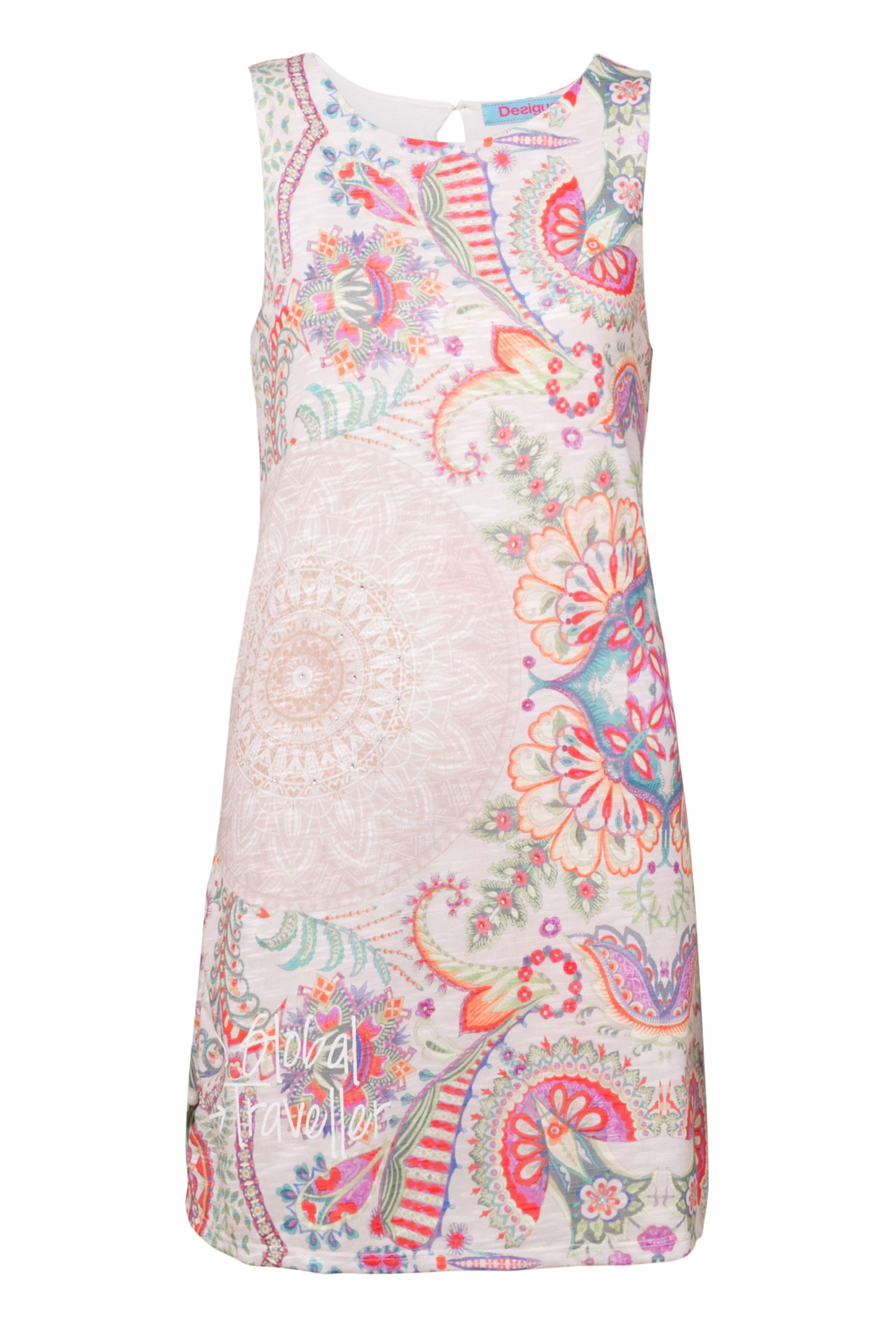 Desigual Dress Lágrima Valkiria, White
