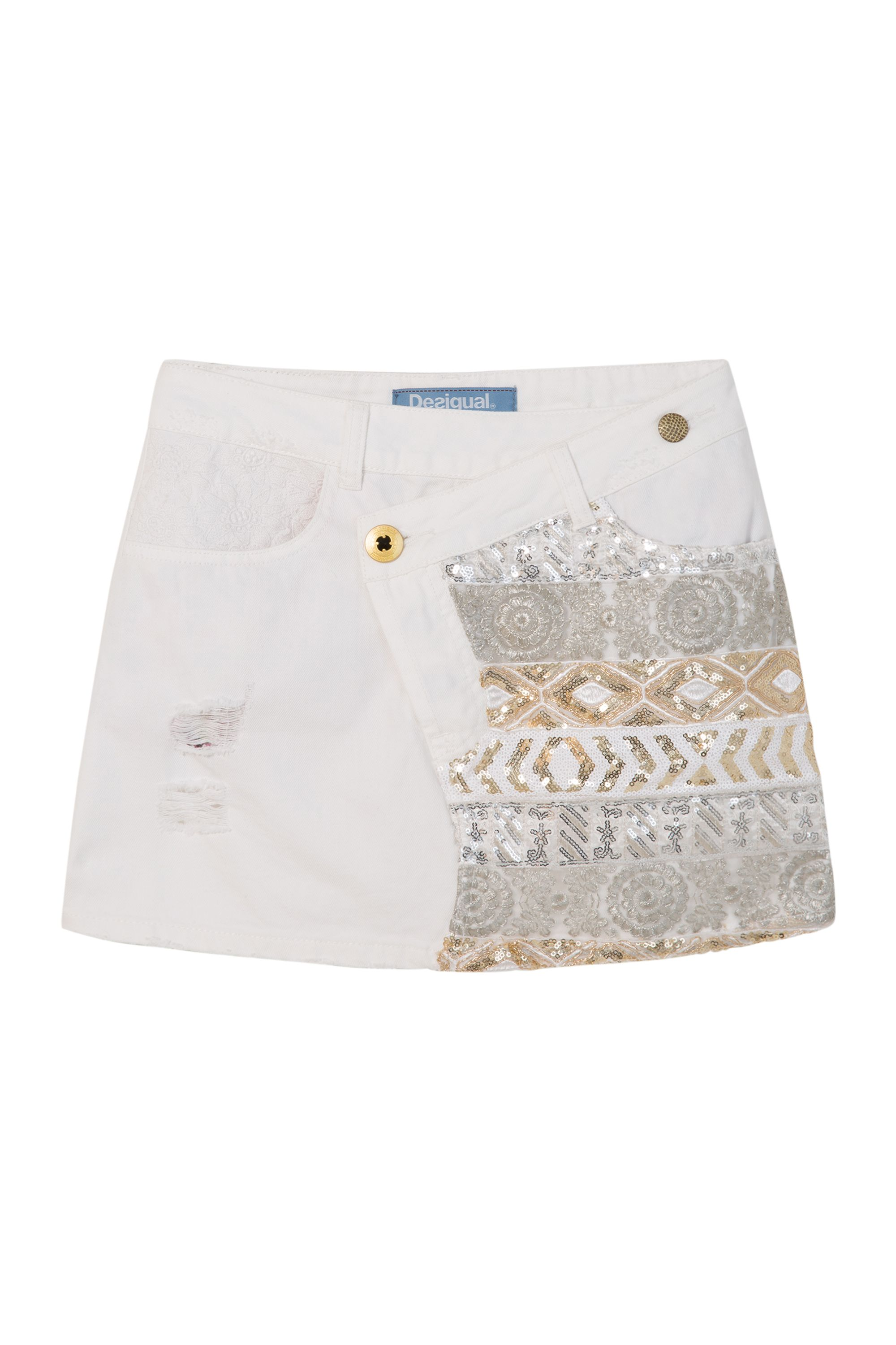 Desigual Exotic White Skirt, White