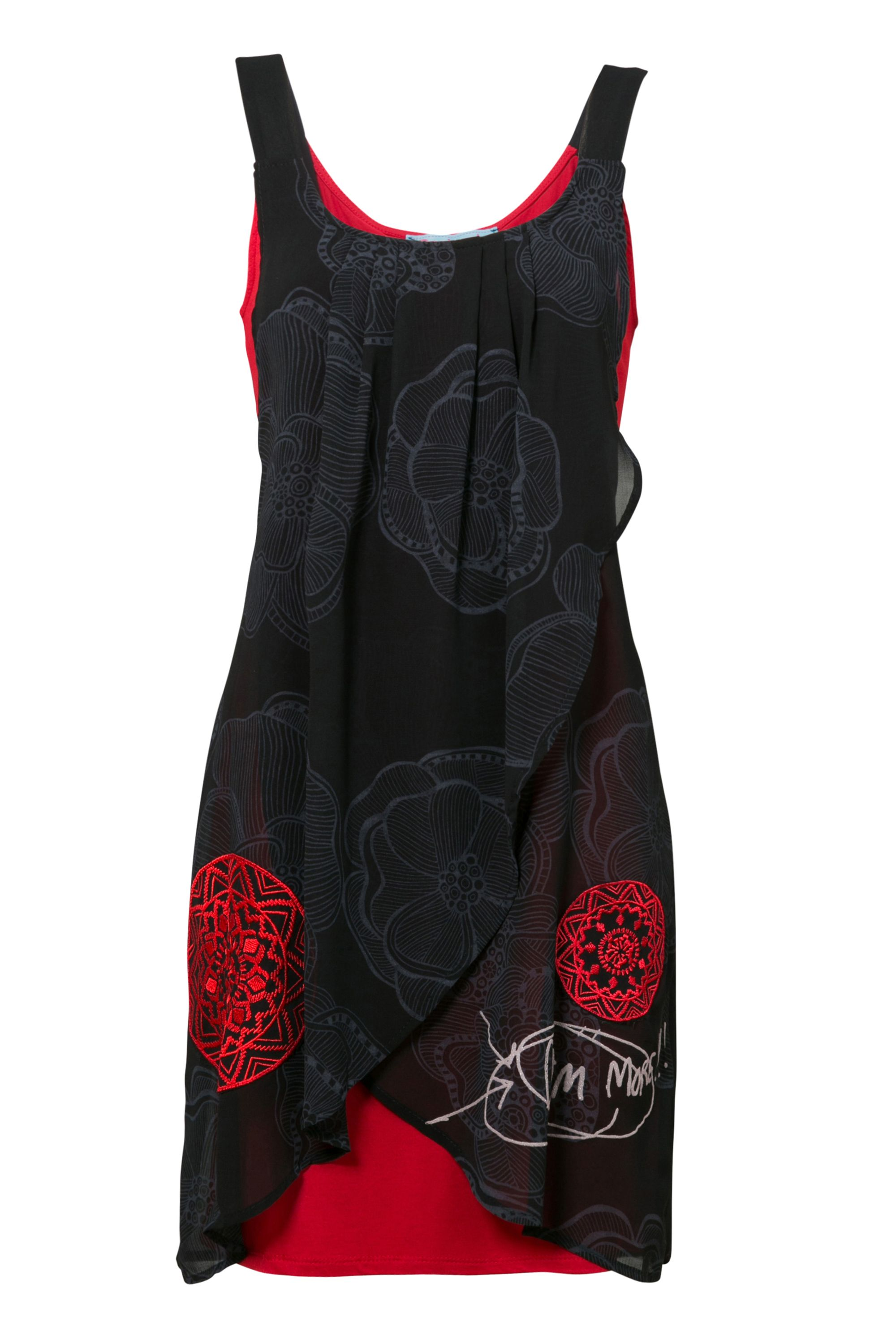 Desigual Dress Blackville Straps, Black