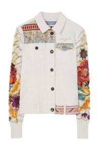 Desigual Jacket Exotic White