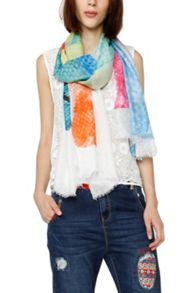 Desigual Scarves Aquarelle Soft