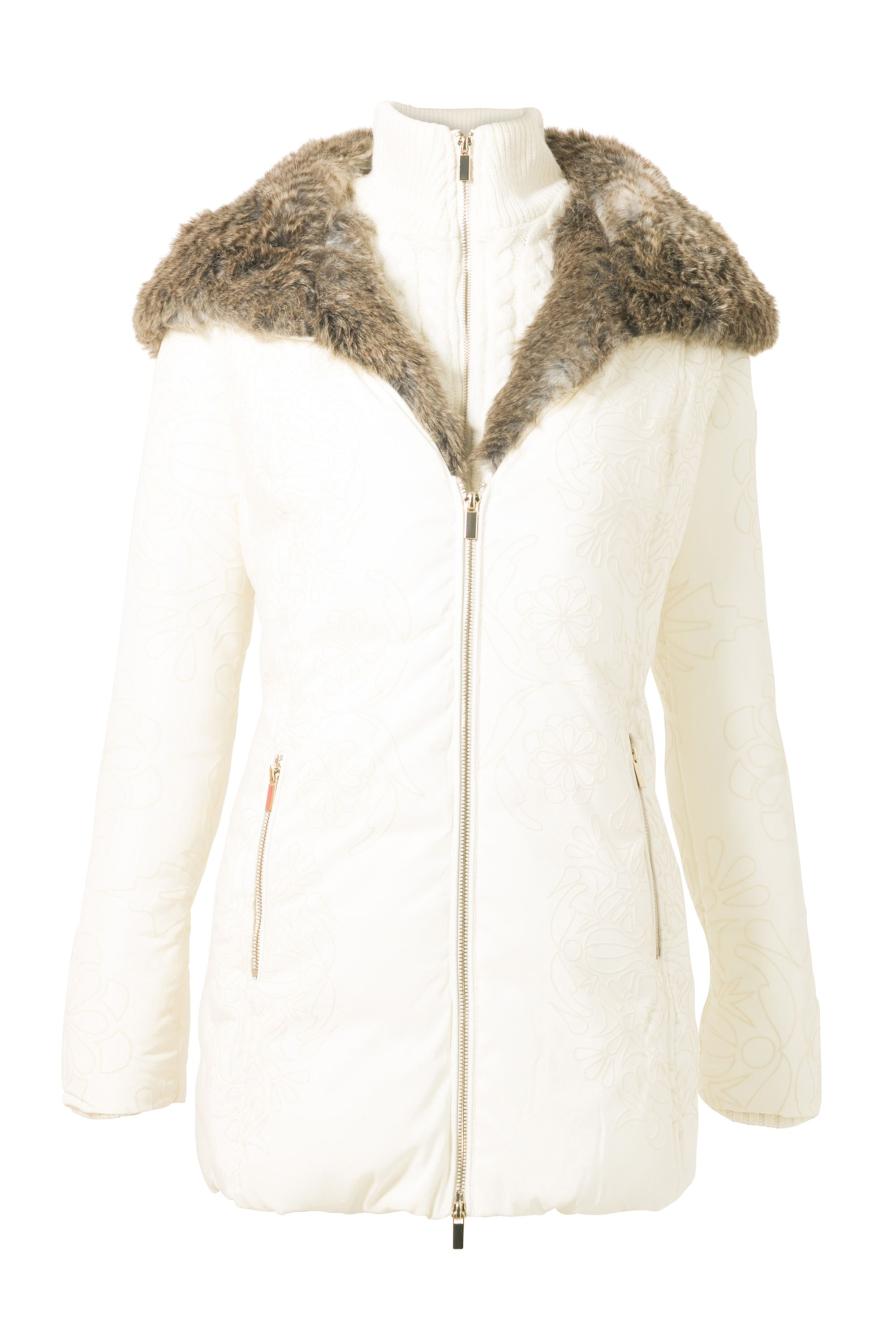 Desigual Coat Maca, White