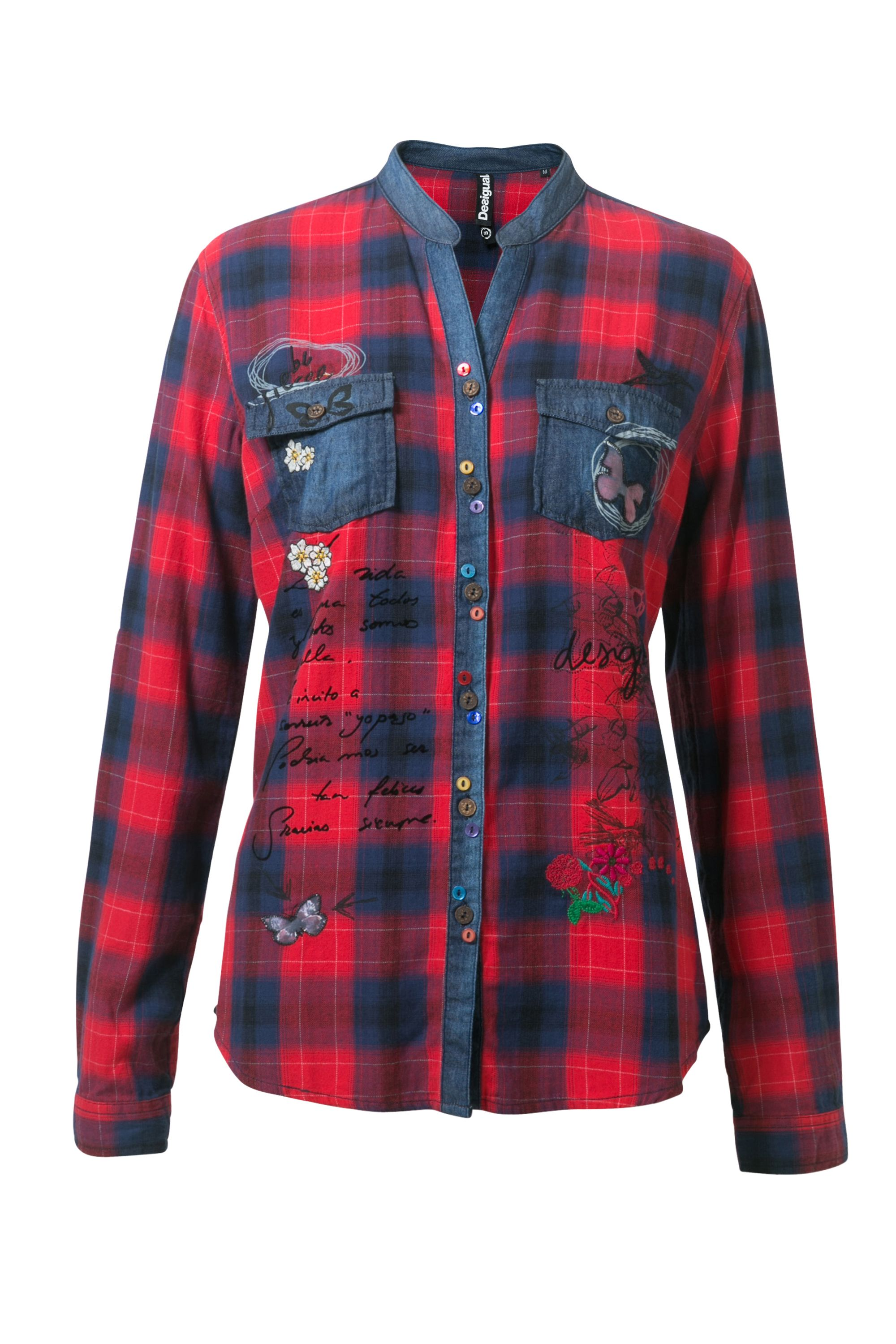 Desigual Shirt Elqui  Rep, Red