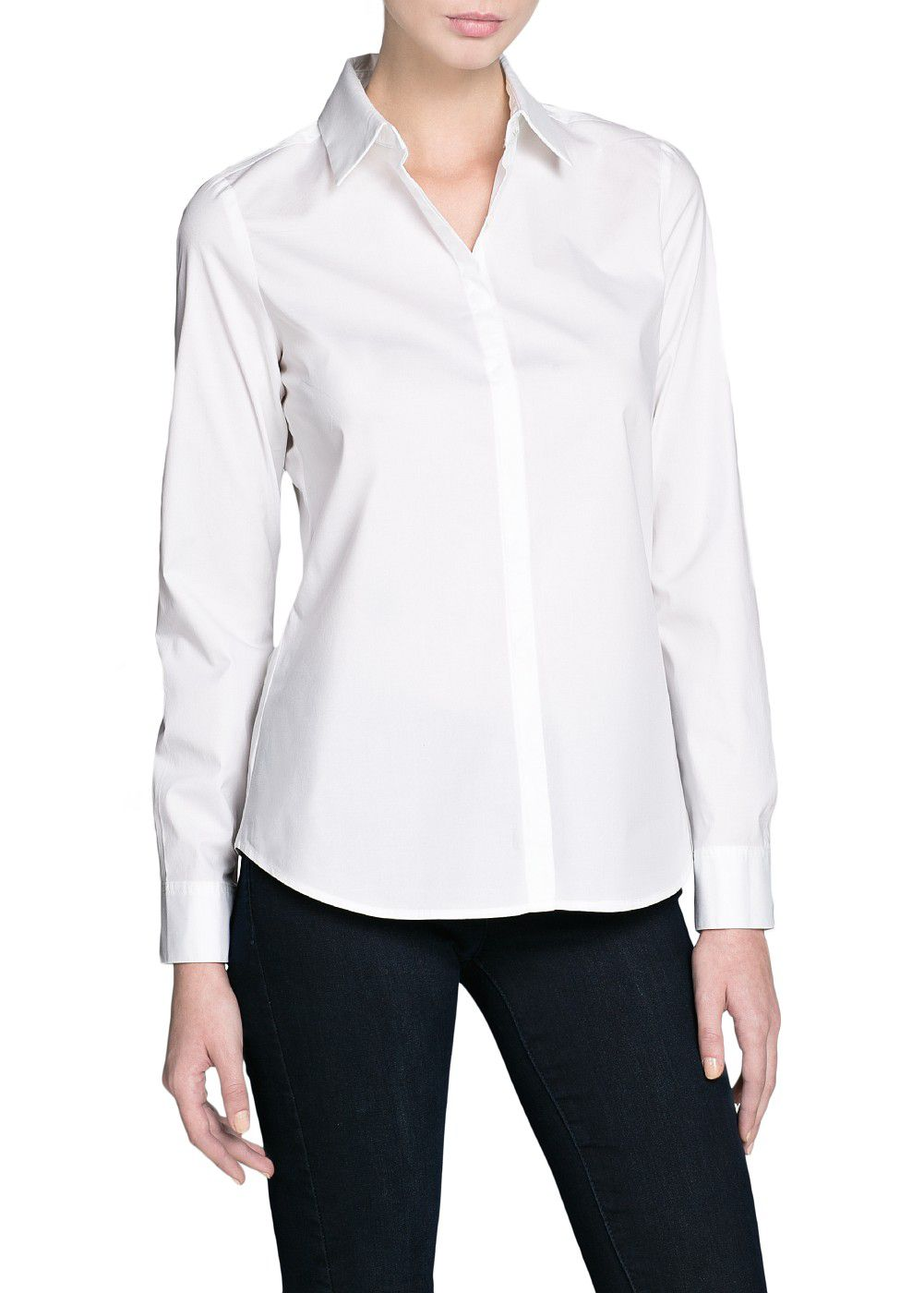 Cotton fitted shirt