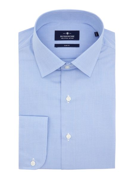 Rushmore Space slim mini check non iron shirt