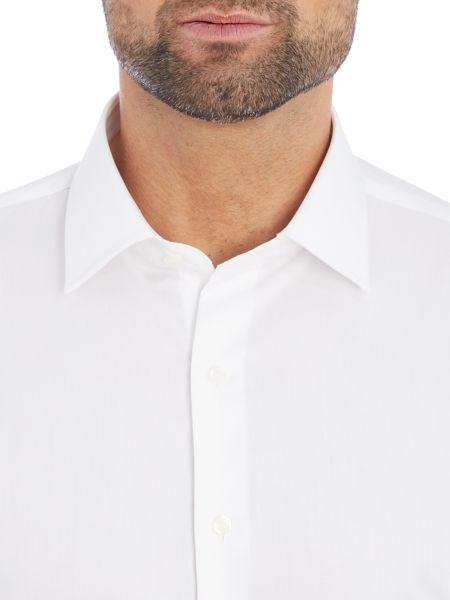 Rushmore Space slim plain non iron shirt