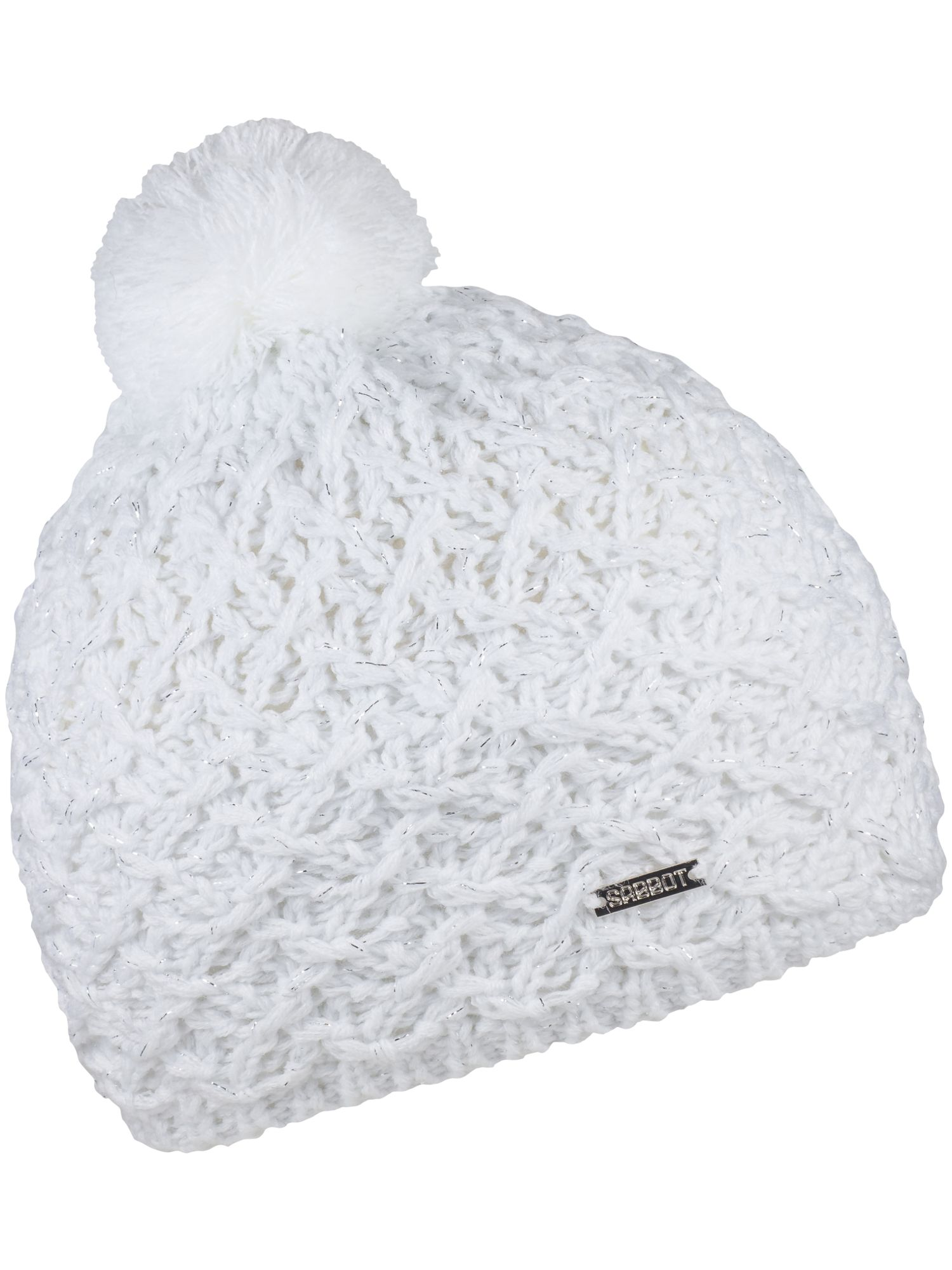 Click to view product details and reviews for Sabbot Cable Knit Beanie White.