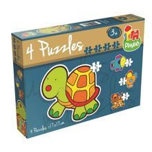 Playlab 4 Shaped Jigsaw 2 Piece Puzzles in a Box