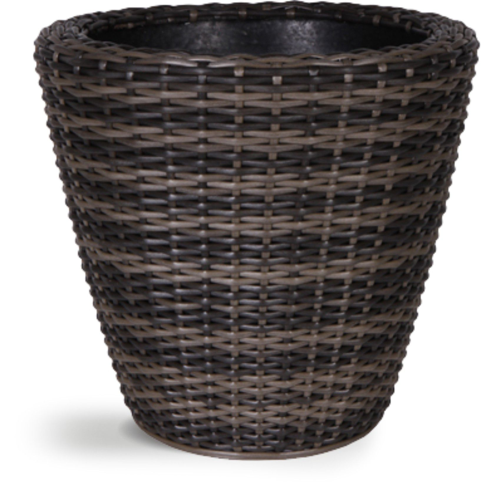 Ivyline Brown rattan wicker planter m