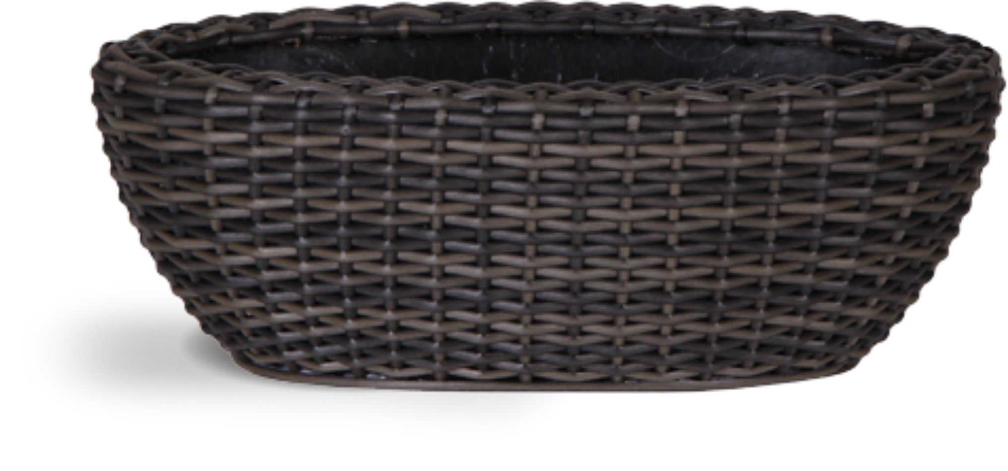 Ivyline Brown rattan wicker trough