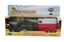 Die-Cast Landrover Defender with Horse Trailer