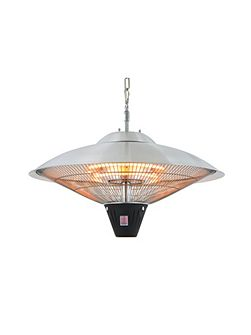 Dome style hanging heater halogen