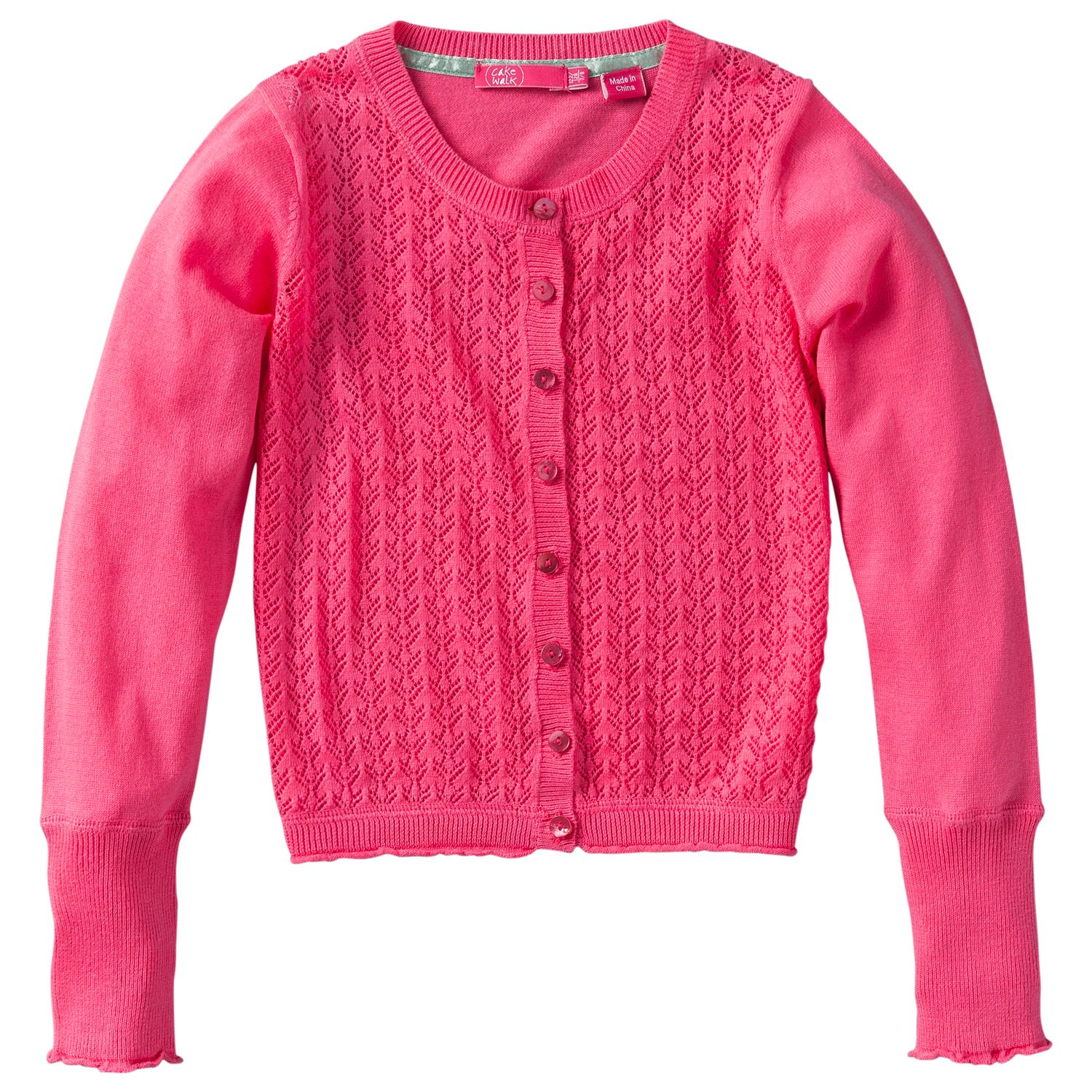 Girl`s ajour knitted cardigan