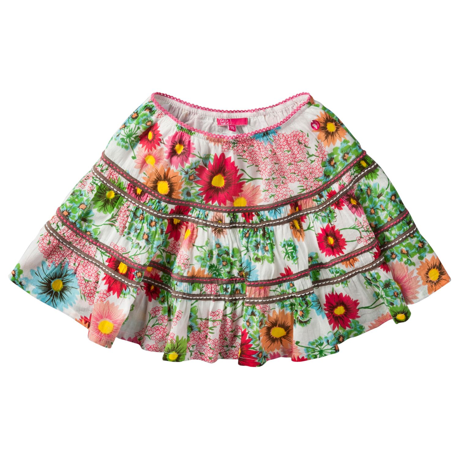 Girl`s voile check skirt