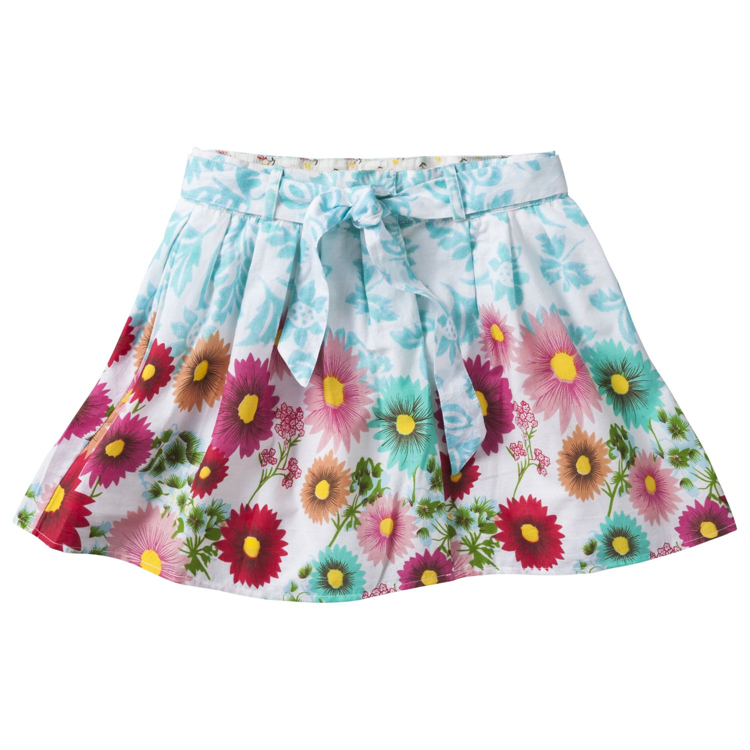 Girl`s printed voile skirt