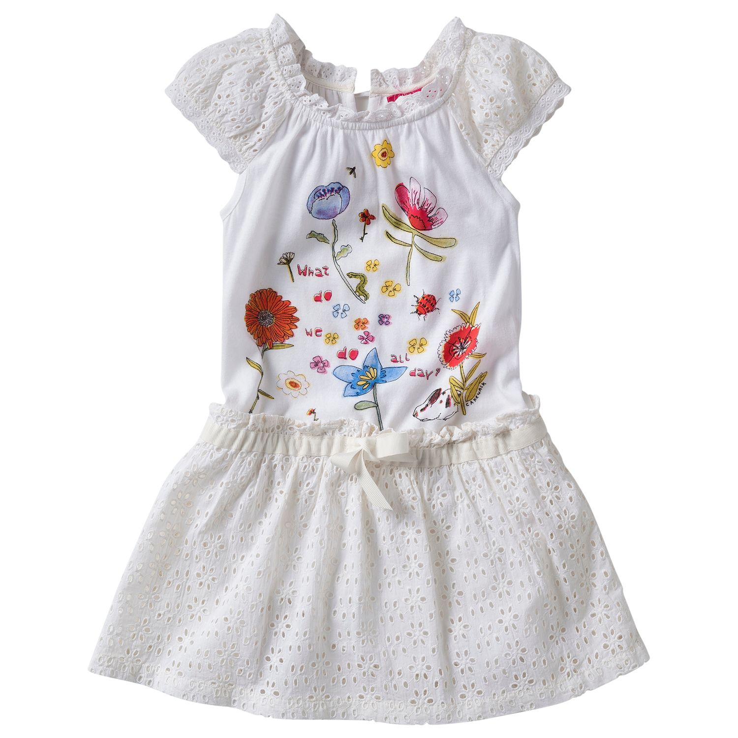 Girl`s mini berie anglaise dress