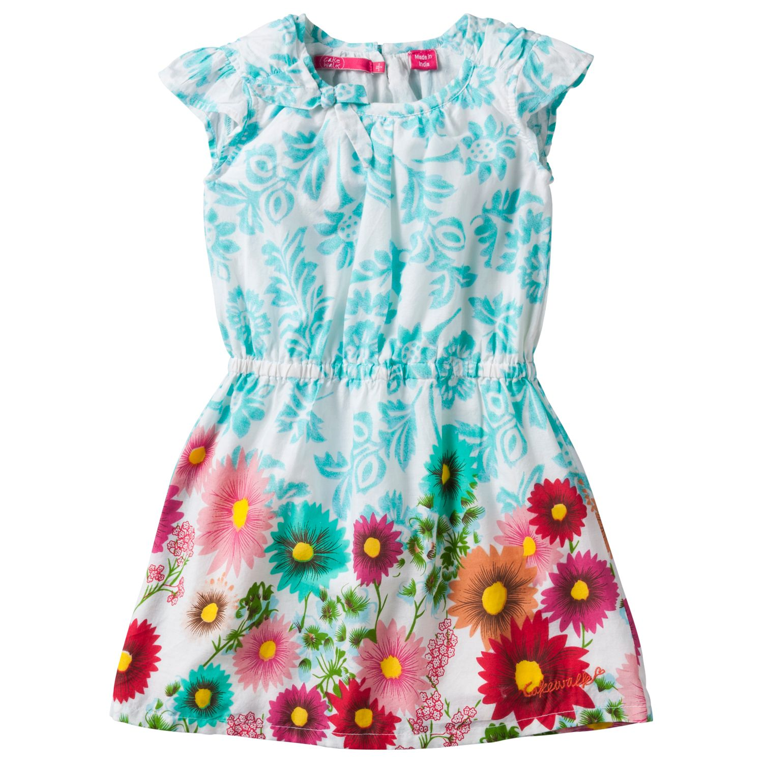 Girl`s mini flower printed dress