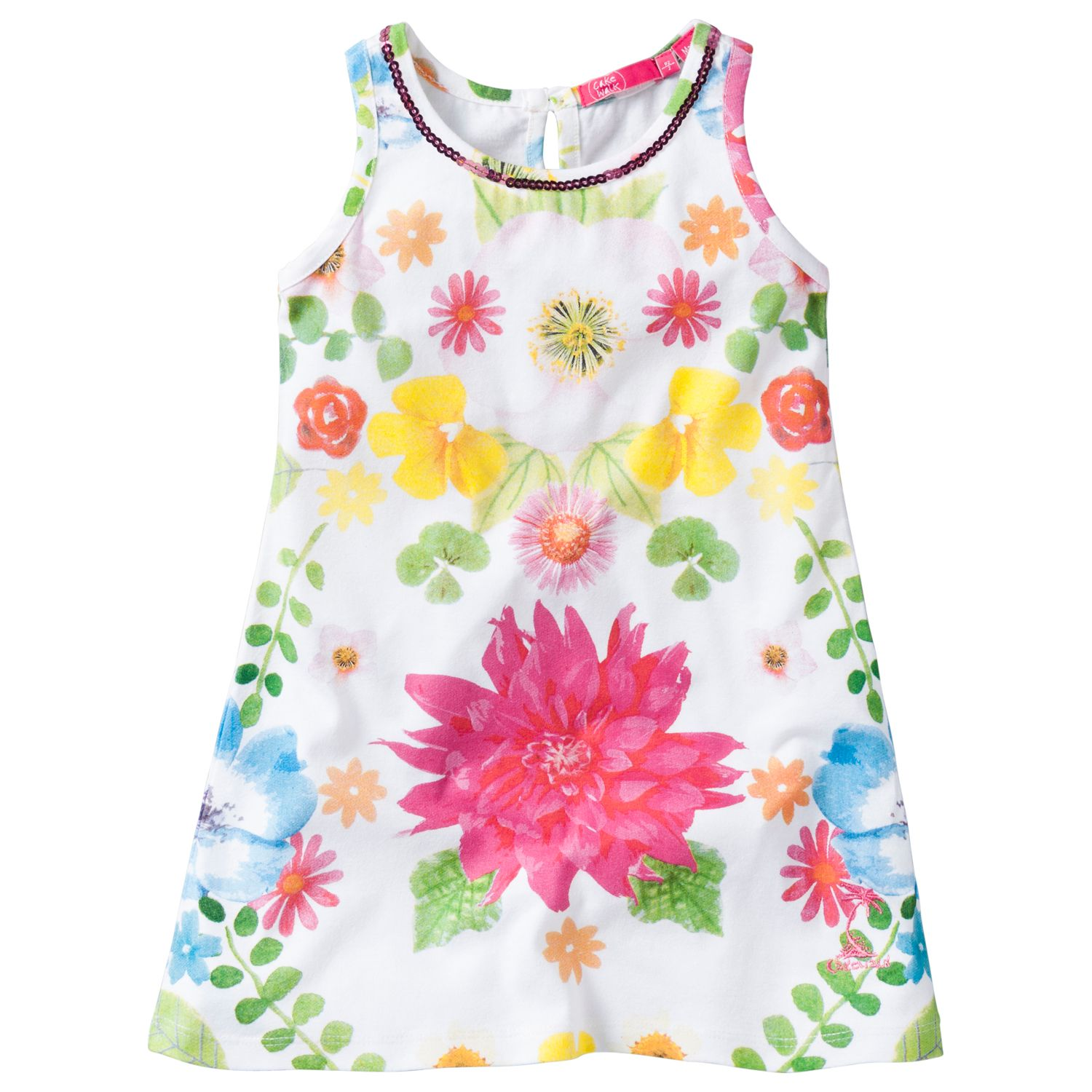 Girl`s mini sleeveless printed dress
