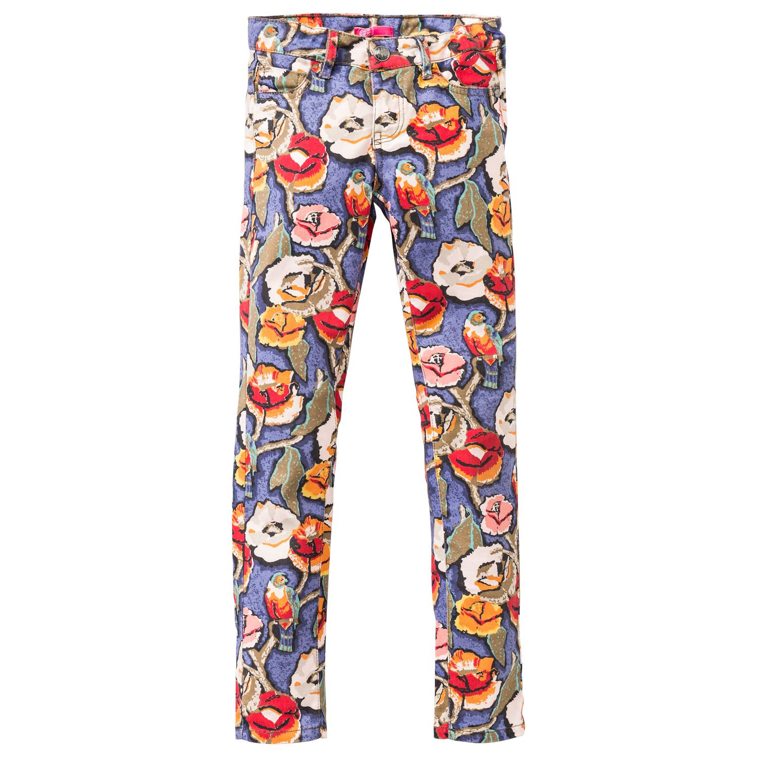 Girl`s pants with flower print