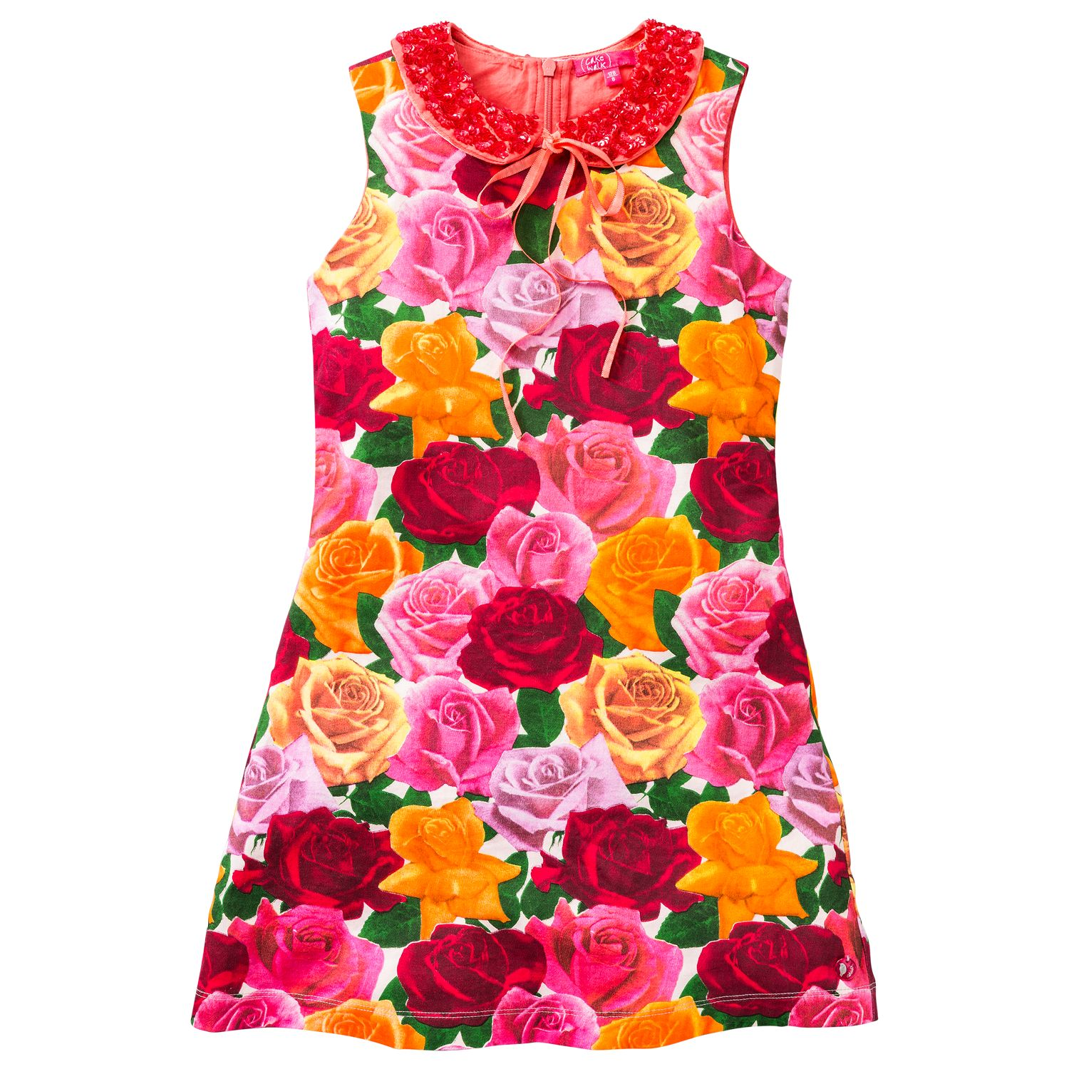 Girl`s dress with roses