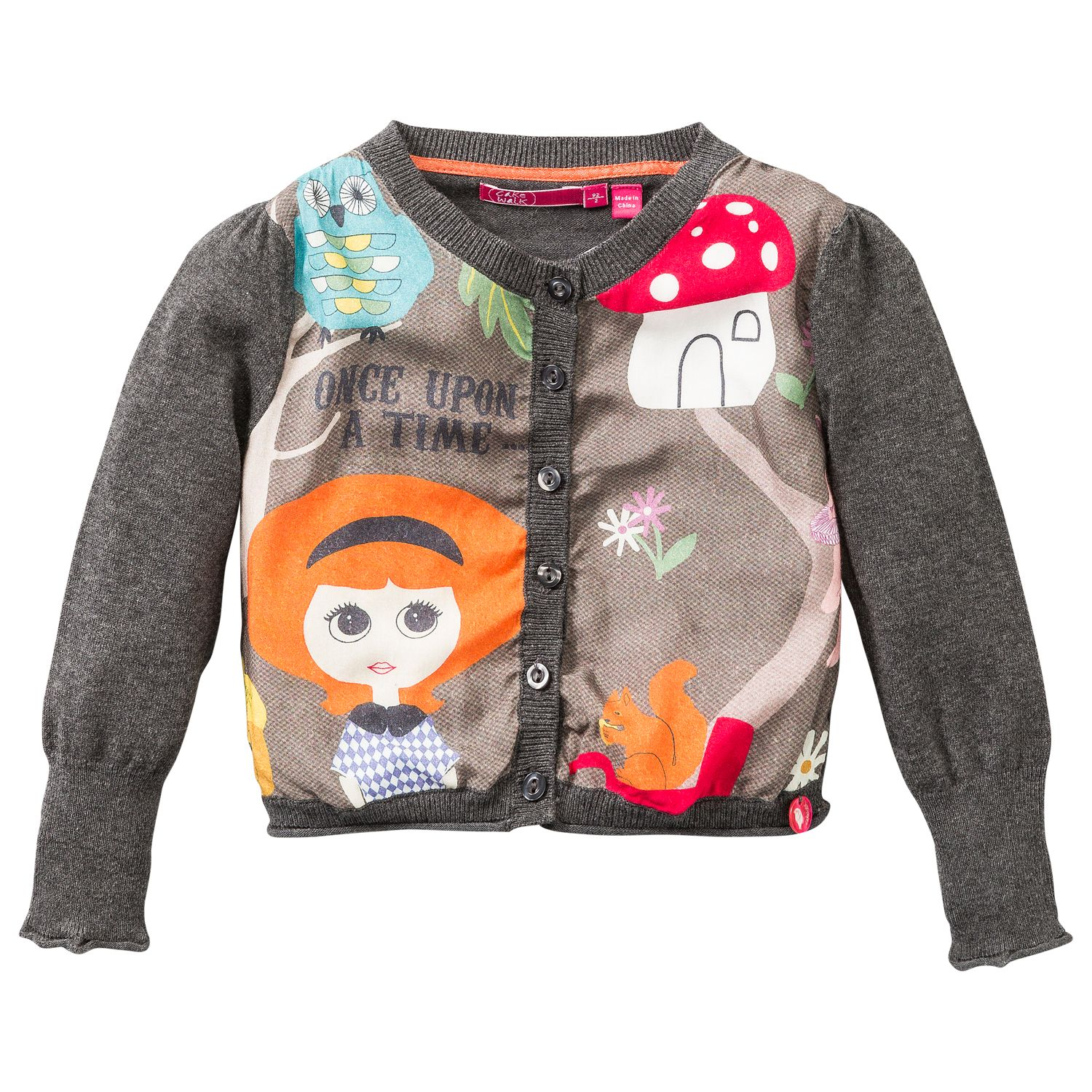 Girl`s cardigan with print