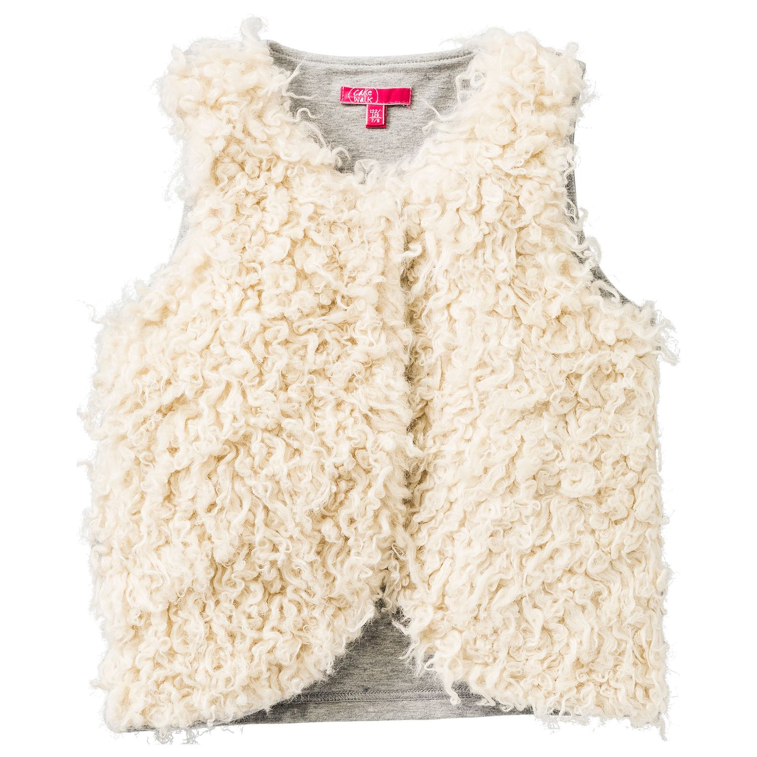 Girl`s gilet in faux fur