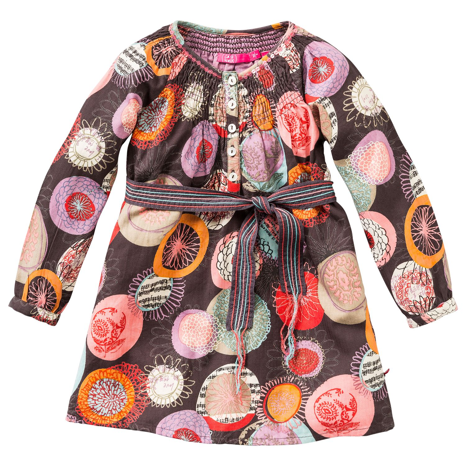 Girl`s dress with all over print