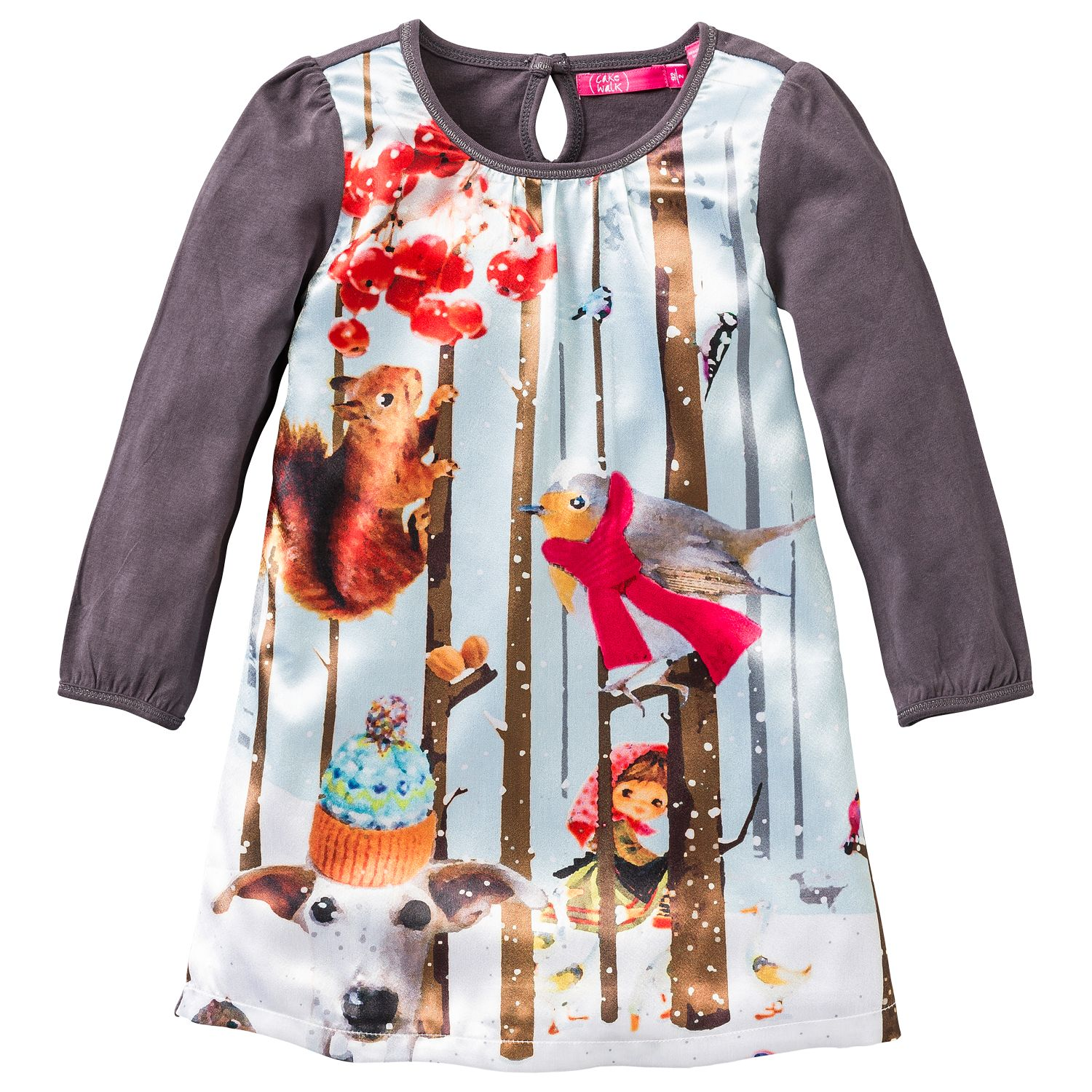 Girl`s dress with print