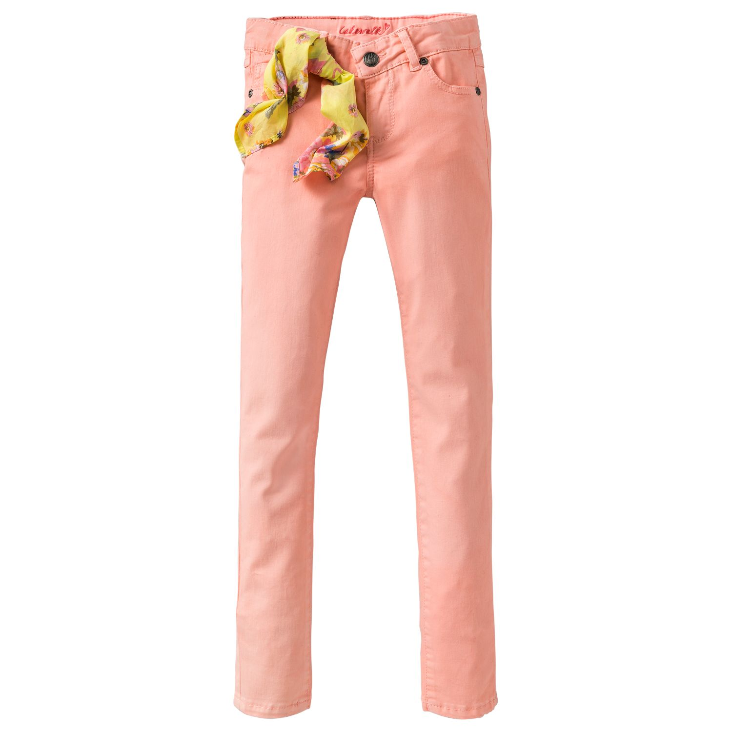 Girl`s 5 pocket coloured jeans