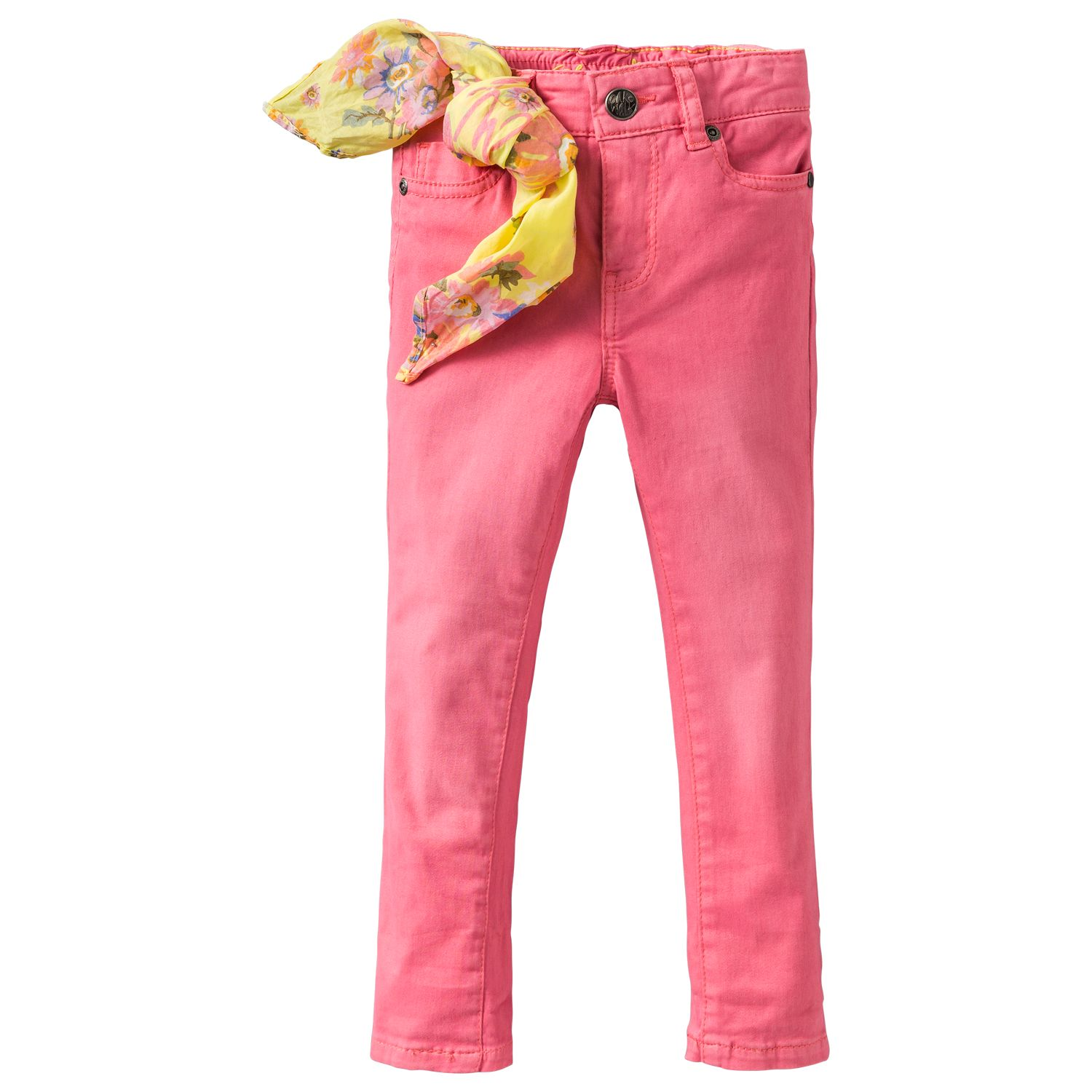 Girl`s coloured stretch jeans